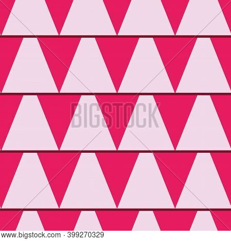Fuchsia And Pink Flags Repeat Pattern Print