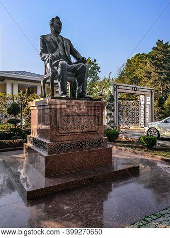 Turkey, Ankara - October 23, 2019: Nursultan Nazarbayev Monument In Ankara. Statue Of A Kazakh Polit