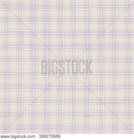 Lilac Lavender Beige Faded Vintage Checkered Background. Space For Graphic Design. Checkered Texture