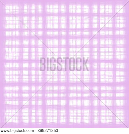 Light Pink White Pastel Lilac Vintage Checkered Background With Blur, Gradient And Grunge Texture. C