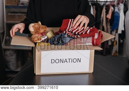 Donation Box, Charity Gift Hampers, Help Refugees And Homeless. Christmas Xmas Charity Donation Box