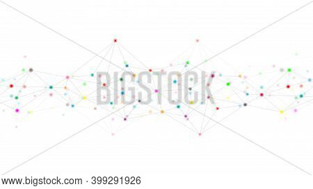 Abstract Plexus Background With Connecting Dots And Lines. Global Network Connection, Digital Techno