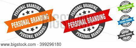 Personal Branding Stamp. Personal Branding Round Ribbon Sticker. Tag