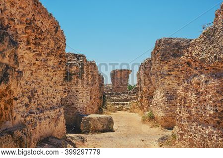 The Ruins Of The Underground Floor Anthony Terms. Excavation Of Thermae In Carthage, Building Of Anc