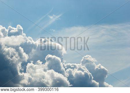 Cumulus And High-cumulus Clouds Of An Average Tier