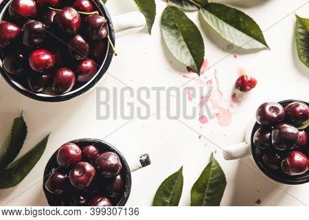 Cherry. Cherries In White Bowl. Red Cherry. Fresh Cherries. Cherry On White Background. Cherries Iso