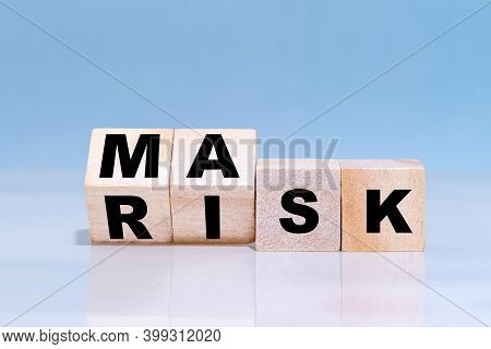 Changing Word From Risk To Mask On Wooden Cubes - Making Choices During Covid-19 Pandemic