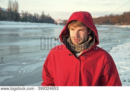 Exploration Of Polar Regions. Winter Destinations. Safety Measures. Polar Explorer. Winter Menswear.