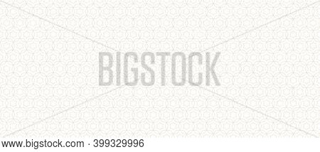 Subtle Golden Vector Abstract Geometric Seamless Pattern. Thin Lines Texture With Grid, Stars, Diamo