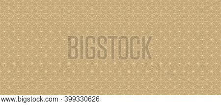Abstract Geometric Seamless Pattern In Arabian Style. Thin Golden Lines Texture, Elegant Floral Latt