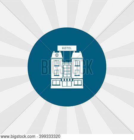 Hotel Building Isolated Vector Icon. Traveling Design Element