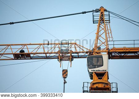 Belgrade, Serbia - November 8, 2020: Liebherr Logo On Some Crane Machinery On A Construction Site In