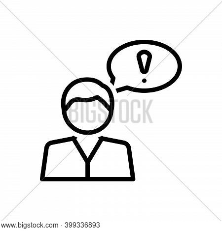 Black Line Icon For Suppose Believe Consider Opine Assume Idea Deem Person Thoughtful Bubble