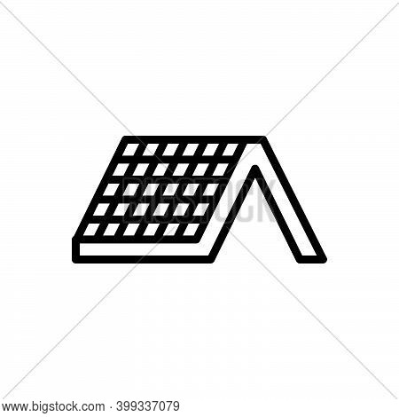Black Line Icon For Roof Ceiling Roofing Soffit Plafond Home Apartment Property Cottage