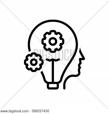 Black Line Icon For Smart Clever Sharp Bright Idea Shrewd