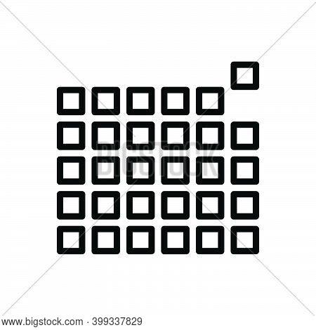 Black Line Icon For Element Pixel Pattern Picture-element Raster Pel