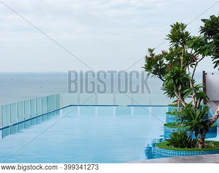 Rooftop Eternity Pool At Bai Sau Or Back Beach In Vung Tau In The Bang Ria-vung Tau Province Of Sout