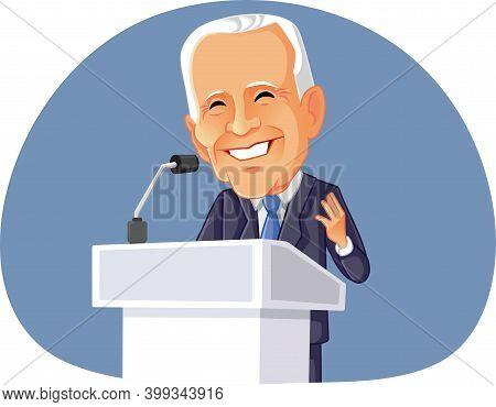 Ny, Usa, December 12,  President Joe Biden Delivering Speech
