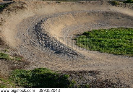 Racing Atrium Bmx Track For Imported Riders With Undulating Terrain Tilted Track With Turns And Jump