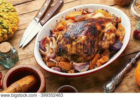 Baked Partridge With Pumpkin