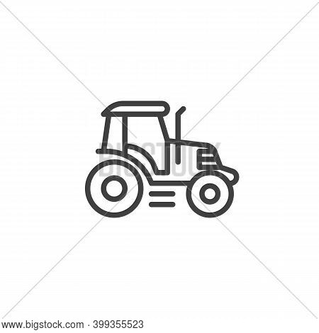 Tractor Line Icon. Linear Style Sign For Mobile Concept And Web Design. Farm Tractor Outline Vector