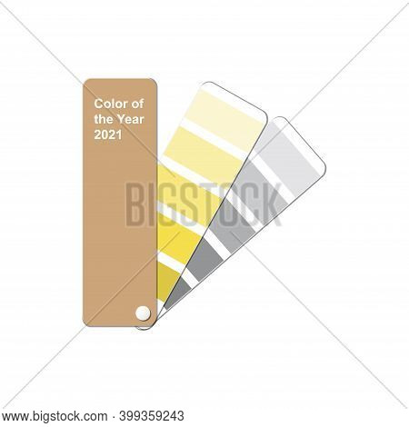 Illuminating And Ultimate Gray Colors, Color Of The Year 2021, Monochromatic Fanned Trendy Colour Pa