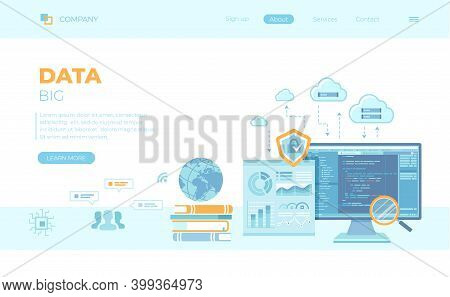 Big Data Processing, Infographic, Analysis, Analytics, Database Research, Financial Reporting, Cloud