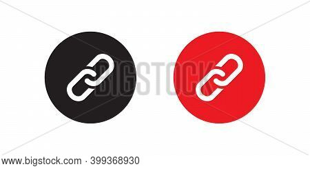Chain Icon Vector In Flat Style Isolated On White Background. Url Link Symbol Illustration