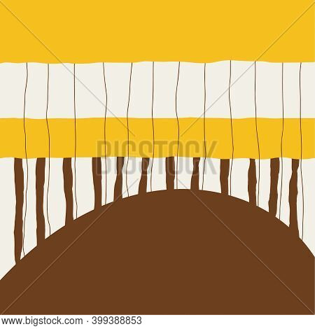 Abstract Background With Vertical Stripes Creating A Rhythm. Minimalistic Scandinavian Style. Vector