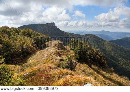 Mount Klak. Mountain View From Lucanska Mala Fatra Mountains. Slovakian Carpathian Mountains. Slovak