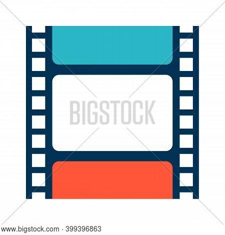 Illustration Of Movie Filmstrip. Stylized Cinema Item.