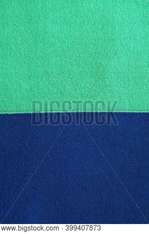 Turquoise Blue Bicolor Smooth Knitted Texture For Textile Background