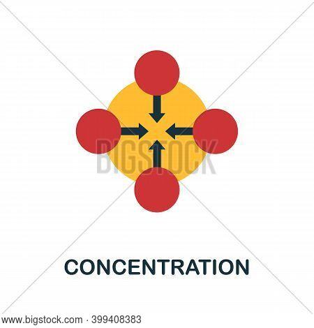 Concentration Flat Icon. Color Simple Element From Stem Education Collection. Creative Concentration