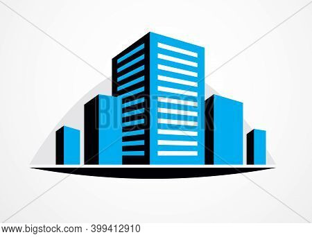 Business Building, Modern Architecture Vector Illustration. Real Estate Realty Office Center Design.