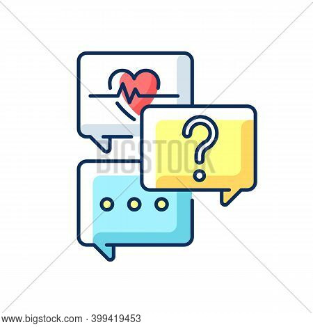 Free Question To Specialist Rgb Color Icon. Health And Medical-related Questions. Live Chat With Doc