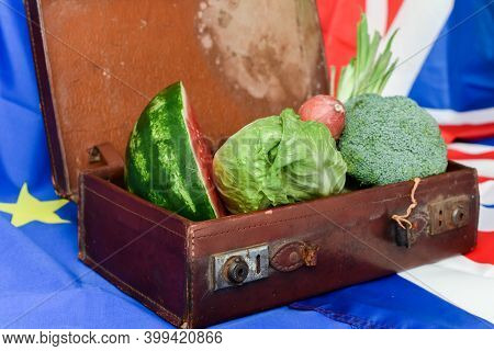 Food Import Concept For Brexit Laws And Legislation On Importing Food From European Union