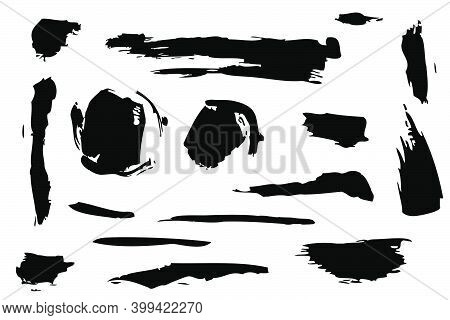 Hand Draw Sketch, Various Size And Shape Of Splat And Splash