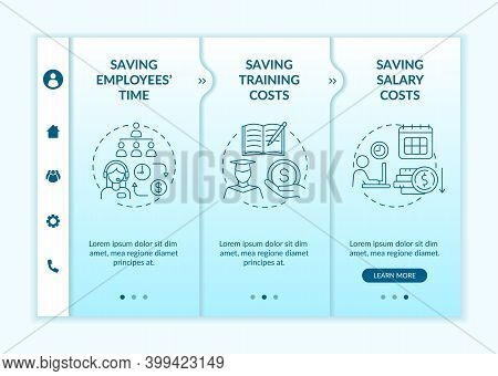 Outsourcing Profit Onboarding Vector Template. Hire Independent Contractor, Subcontractor. Responsiv