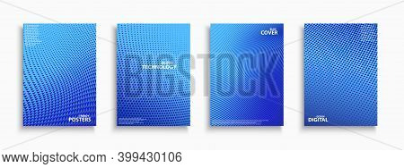 Collection Of Blue Digital Contemporary Covers, Templates, Posters, Placards, Brochures, Banners, Fl