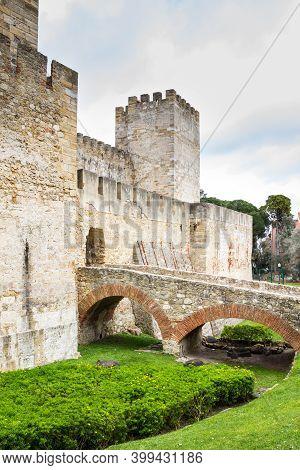 Castelo De San Jorge Or Saint George In Lisbon, Portugal