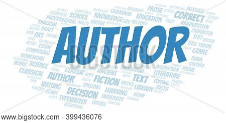 Author Typography Word Cloud Create With Text Only