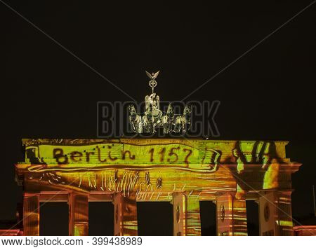 the city of berlin in germany at night