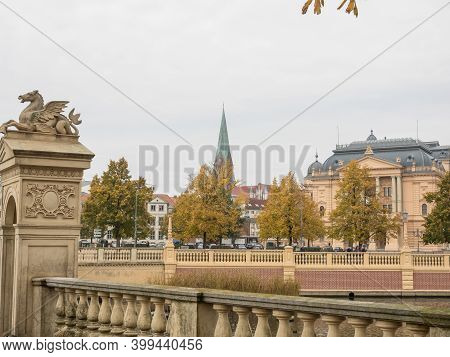 schwerin and the old castle in germany