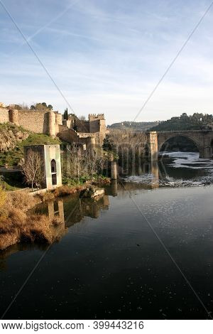 Views Of Toledo Spain, With The Tagus River And Saint Martin Bridge, Taken On The 1st Of March 2007