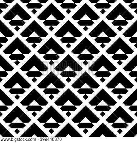 Seamless Pattern. Rhombuses, Chevrons, Figures Ornament. Diamonds, Curves, Shapes Wallpaper. Ethnic