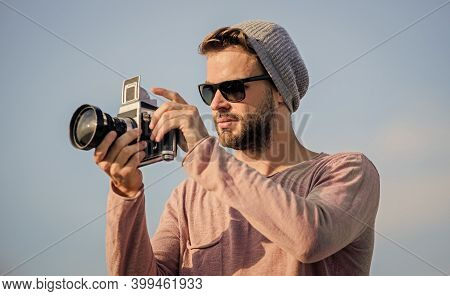 Because Every Picture Tells A Story. Capture Adventure. Journalist. Travel With Camera. Male Fashion