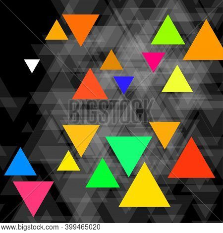 Abstract Geometric Background With Polygonal Triangles, Banner