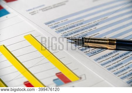 Statement Of Financial Position. Accounting And Financial Report Analysis.
