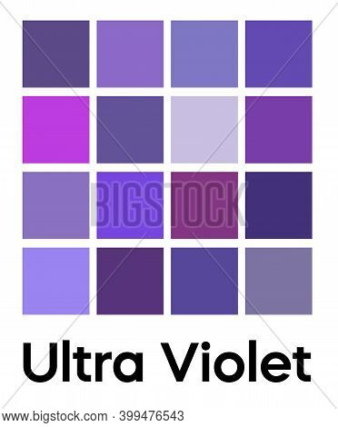 Palette Of Ultra Violet Tones. Purple Color Template. Shades Of Lilac Color. Vector Colored Pattern