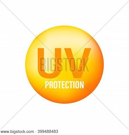 Uv Radiation, Great Design For Any Purposes. Danger Warning Icon. Arrow Icon. Uv Radiation For Conce